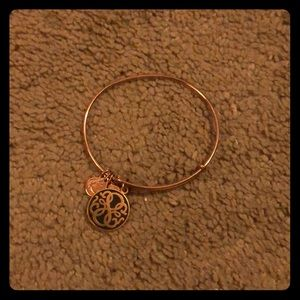 Rose gold infinity charm Alex and ani